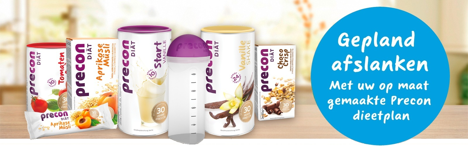 dieetplan voor uw dieet succes met Precon